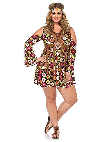 2017 Leg Avenue Women's Plus-Size Starflower Hippie Costume