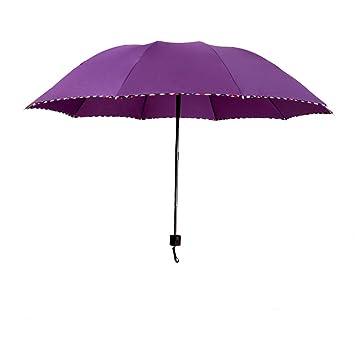 SBBCW Grandes 10 Huesos Negocios Regalos Hombres Y Mujeres Las Tres Paraguas Plegable