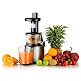jug juice - KUPPET Electric 80 RPM 150W Slow Masticating Juicer Extractor, For High Nutrient Juice Reducing Oxidation, Fresh Fruit and Vegetable Juice with Juice Jug and Cleaning Brush, Lowest Noise, Two Mouths