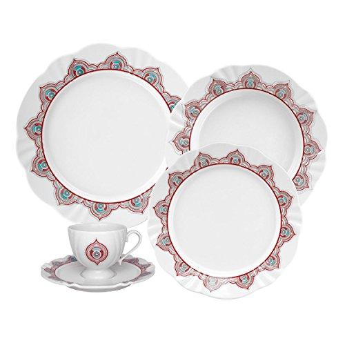 Oxford 20 Piece Talisman Collection Soleil Dinnerware Set - Bone Oxford China