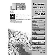 Panasonic SA-PM19 SA-PM193 CD Stereo System Owners Instruction Manual Reprint