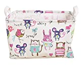 Large Cotton Home Clothing Toys Books Storage Box, Small Animal Graffiti