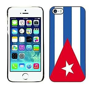 - Flag - - Monedero pared Design Premium cuero del tir¨®n magn¨¦tico delgado del caso de la cubierta pata de ca FOR Apple iPhone 5 5S Funny House