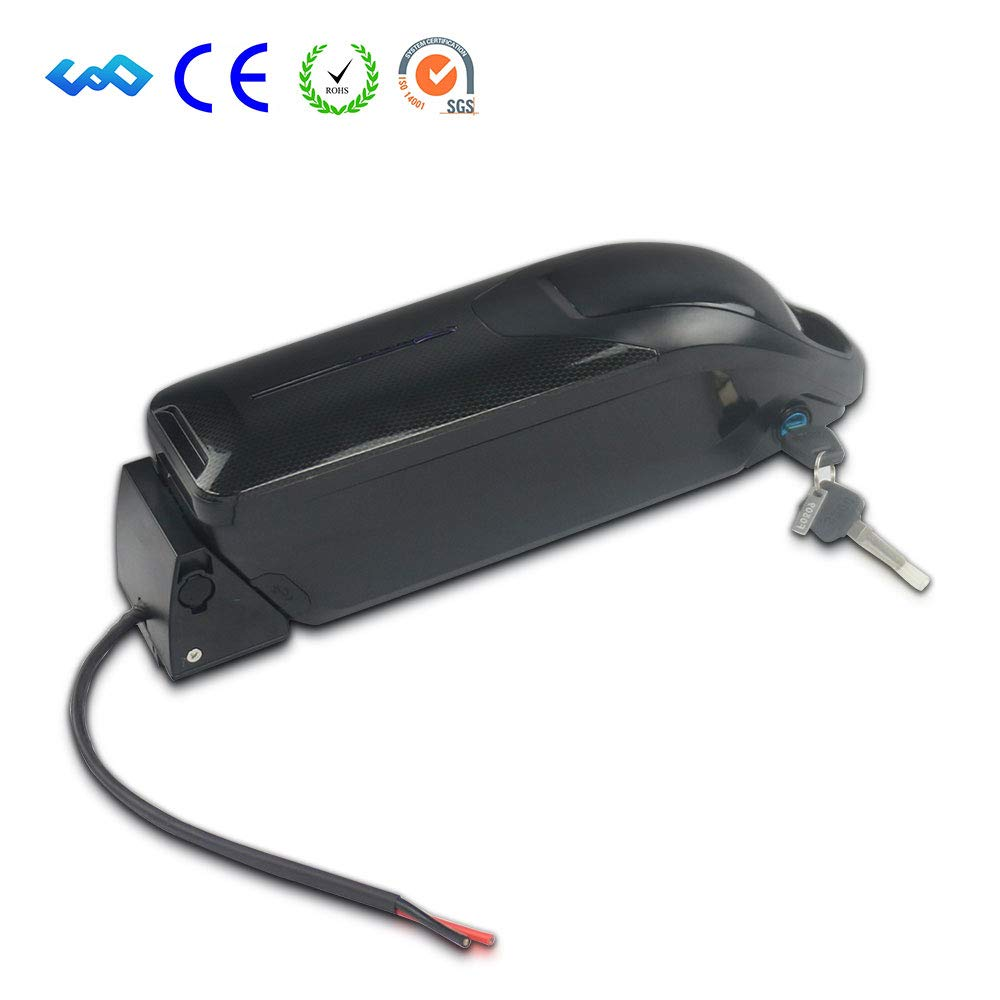 UnitPackPower 52V 10AH/13.6AH Lithium ion Dolphin Style Made of 18650 Cells with USB Port + Blue LED Power Level Display +2 Charge Port, fits Bafang 52V 750W/1000W Motor (52V 13.6AH - LG Cells) by UnitPackPower