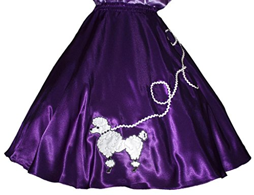 3 BIG NOTES - Adult SATIN Poodle Skirt Size XL (38
