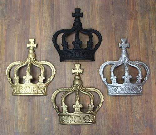King Crown or Queen Prince Wall Art Princess Metal England Choose Color After Buying