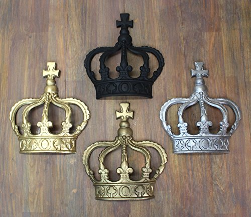 King CROWN or Queen Prince Wall Art Princess Metal England