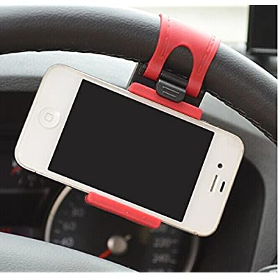 JessicaAlba Universal Cell Phone Car Mount Holder on Steering Wheel Better View & Buckle Clip Hands Free For Honda Accord Civic CR-V Crosstour Fit Odyssey: Automotive