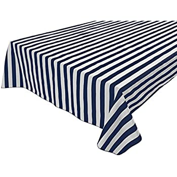 Fabricbydesign Cotton 2 Inch Black U0026 White Stripes Tablecloth For  Party,Wedding,Bridal Shower,Outdoors, Birthdays, Special Events, Picnic  (48u0027u0027 X 48u0027u0027, ...