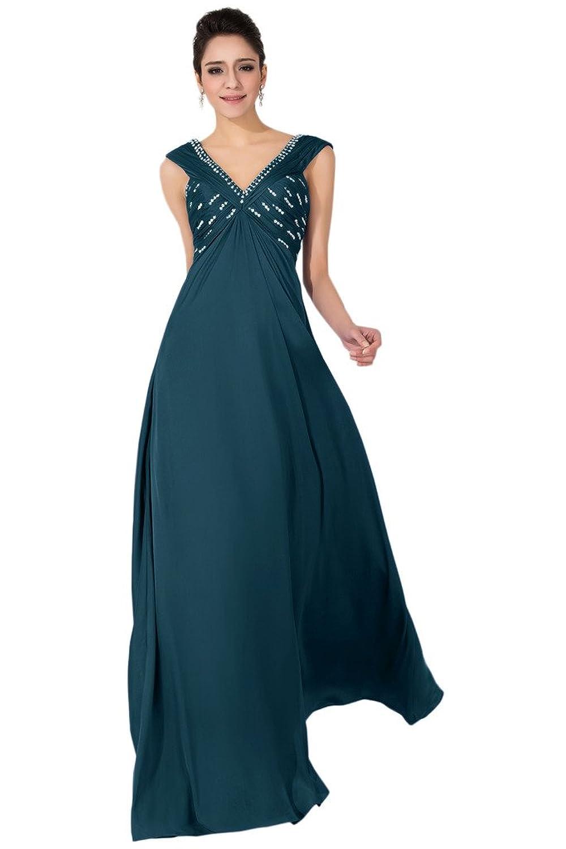 Sunvary Sexy Halter Rhinestone Evening Dresses Prom Gowns Chiffon A Line