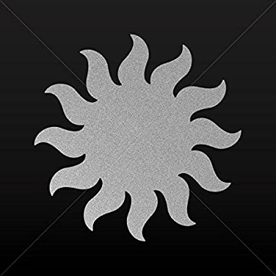 White 5 inches Sun//Bicycle Vinyl Decal Sticker