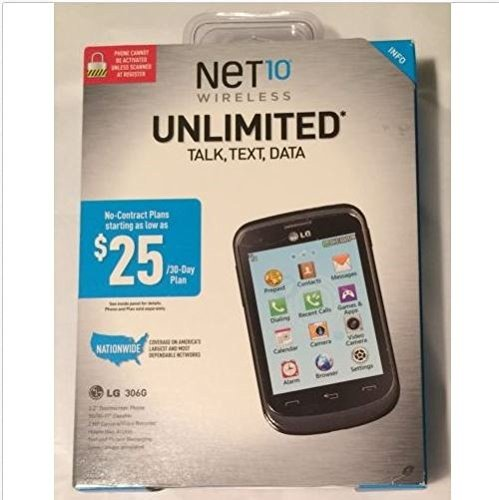 NET10 Wireless Pre-Paid Cell Phone Unlimited Talk Text Data LG 306G