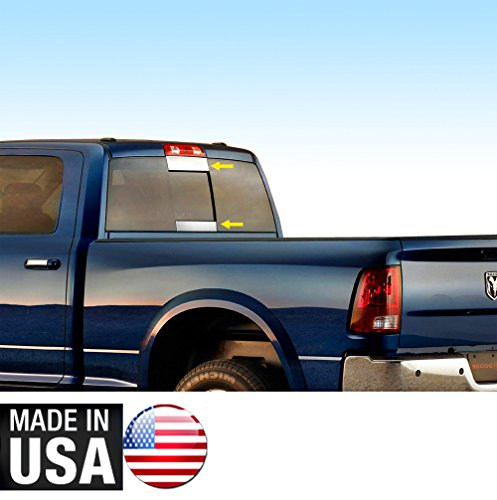 (Tyger Auto Made In USA! Works With Dodge Chrome Stainless Steel Trim 2009-2018 Ram Rear Slider Window 2PC)