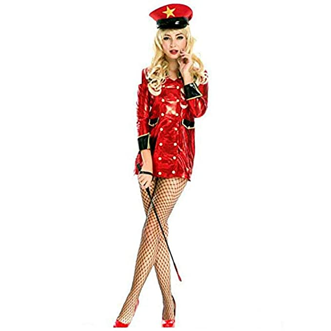 Amazon.com: Disfraz de policía sexy para mujer, color rojo ...