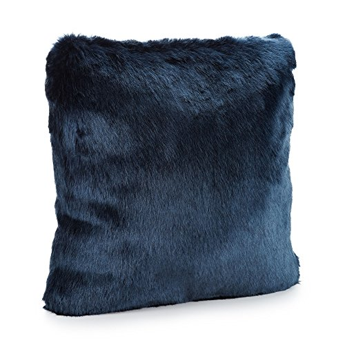 Fabulous Furs: Faux Fur Luxury Pillow, Steel Blue Mink, Available in standard size 18
