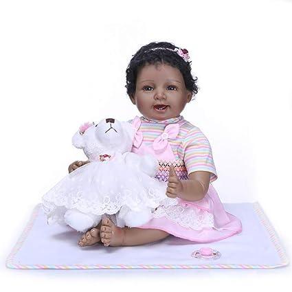 Homesave Reborn Dolls 21,65 Pulgadas Negro Piel Lifelike Suave ...