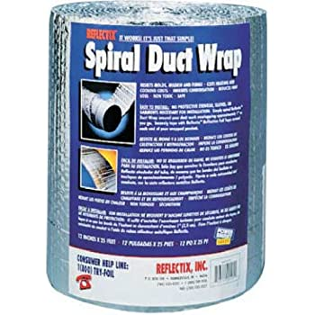 Reflectix Dw1202504 Spiral Duct Wrap Silver Duct