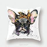 Custom Satin Pillowcase Protector French Bulldog Cute Puppy Dog Watercolor Puppy Dog Illustration French Bulldog Breed Unusual 368346452 Pillow Case Covers Decorative