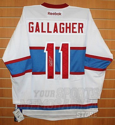 quality design f7dfb a7d1d Brendan Gallagher Montreal Canadiens Signed Autographed ...