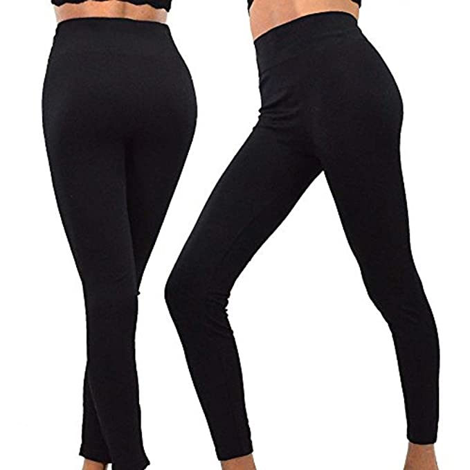 TeeHee Womens Active Sports Yoga Flex Full Leggings Pants 2-Pack