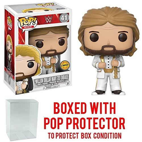 Funko Pop! WWE Million Dollar Man Ted Diabase CHASE VARIANT Vinyl Figure (Bundled with Pop BOX PROTECTOR CASE) by Funko