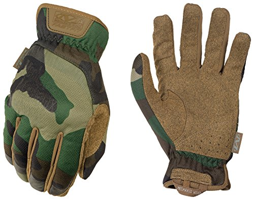 Mechanix Wear - FastFit Woodland Camo Tactical Touchscreen Gloves (Large, Camouflage)