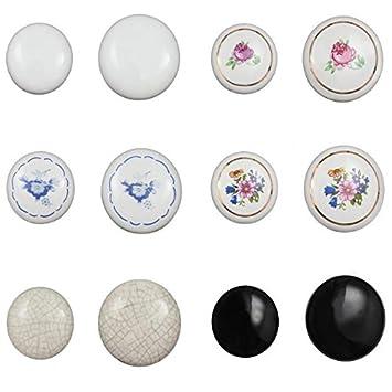 38mm Keramik Möbelknopf Porzellan Möbelknauf für Schubladen Schrank Knopf