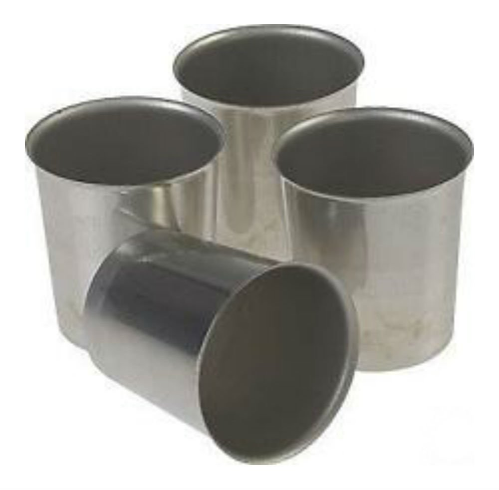 Seamless Metal VOTIVE Candle Molds (Lot of 12) na 4336841052