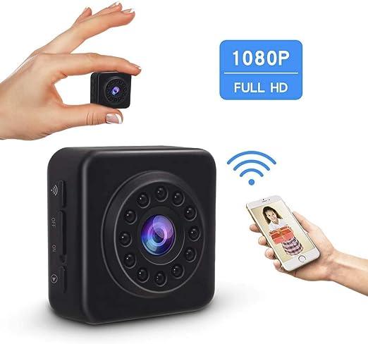 Mini cámara oculta 1080P, cámara de visión nocturna WIFI Visión ...