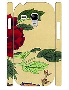 3D Print Hipster Ink Rose Treasure Design Tough Phone Drop Protection Case for Samsung Galaxy S3 Mini I8200