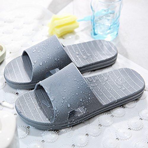 baño zapatillas nbsp;Las y plástico de casa de interiores gris planas fugas un antideslizante cool 43 de femeninos agua verano minimalista Fankou masculinos baño zapatillas quedarme par de 44 tdq5xnq1w