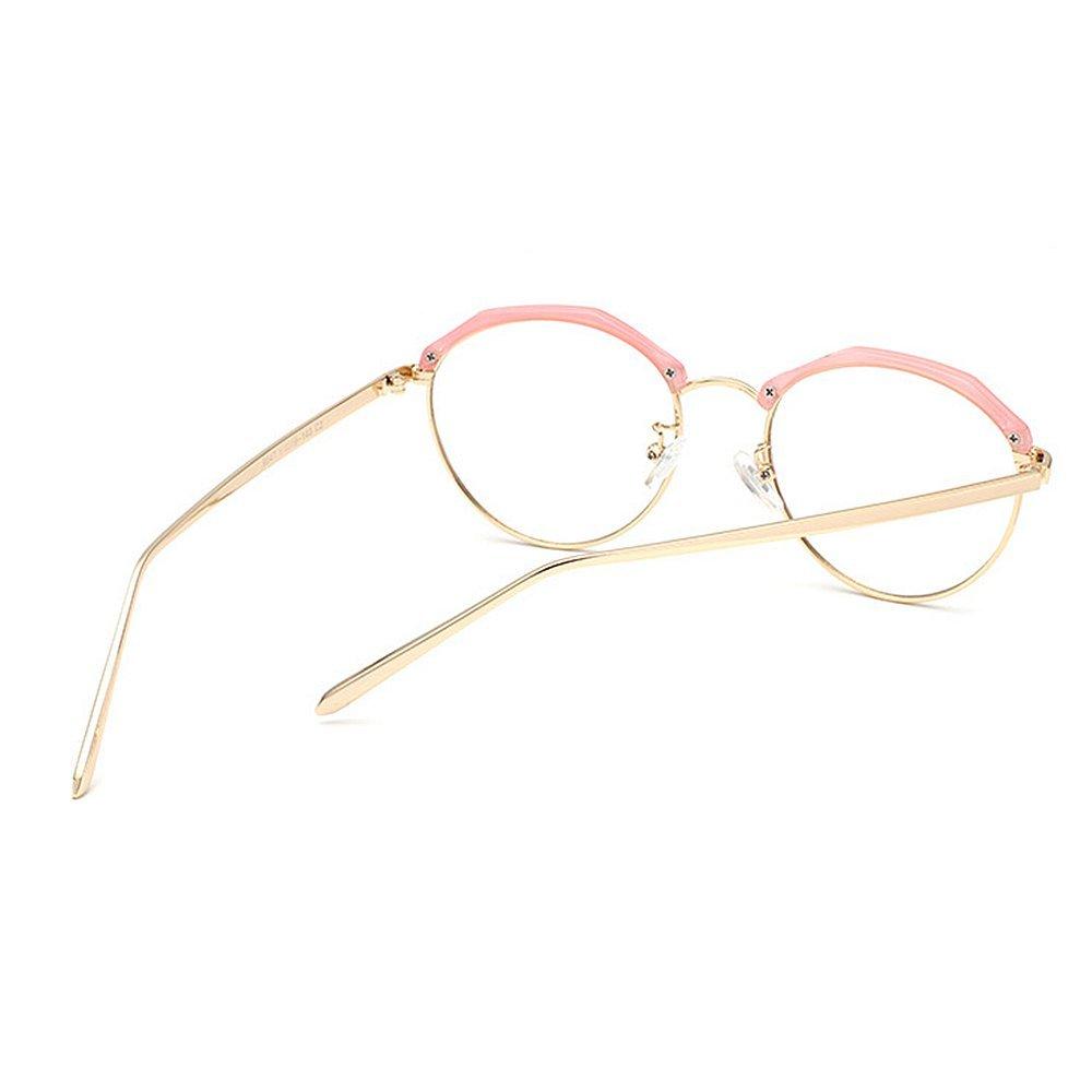 Marco poligonal con estilo redondo Gafas gafas de sol sol semi-sin ...