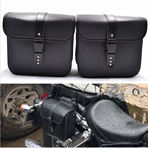 Saddlebags For Motorcycle Universal Leather PU Waterproof 7L Large Capacity Saddlebags Softailfor Scooter Honda Suzuki Yamaha HD Street Sportster