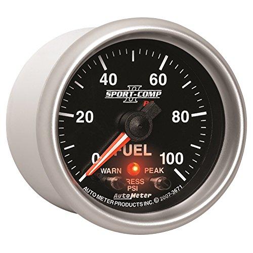 [Auto Meter 3671 Sport-Comp PC Fuel Pressure Gauge] (Autometer Pro Comp Pressure Gauge)