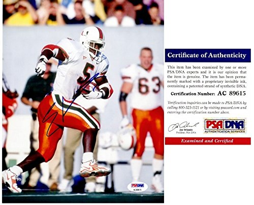 (Edgerrin James Autographed Signed Miami Hurricanes 8x10 Photo - PSA/DNA)