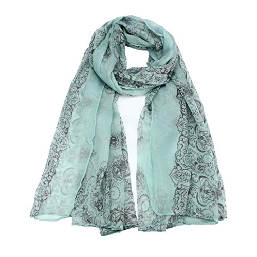 - BEAUTYVAN, Women Lady Sun Protection Gauze Kerchief Classical Print Scarf Scarves (Green)