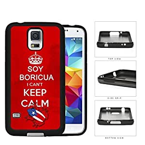 Soy Boricua I Can't Keep Calm Rubber Silicone TPU Cell Phone Case Samsung Galaxy S5 SM-G900
