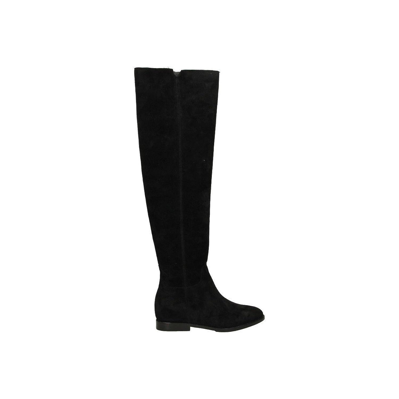 ASH WOMEN'S JESS003 BLACK SUEDE BOOTS