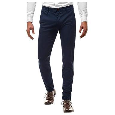SCHOLIEBEN Pantalones Pants Trousers Jeans Pantalone Casuales con ...