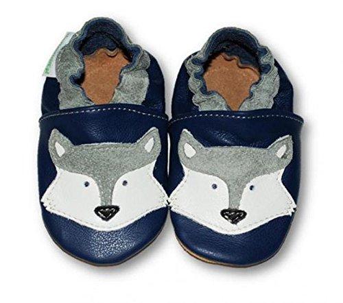 Fiorino piel–Patucos de zapatos de bebé lauflern–Zapatos de motivos en diferentes colores y Tamaños azul Fuchs Blau Talla:L Fuchs Blau