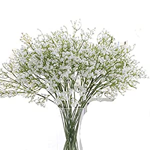 Luccaful 3PCs DIY Artificial Baby's Breath Flower Gypsophila Fake Silicone Plant for Wedding Home Hotel Party Decoration 5 Colors 82