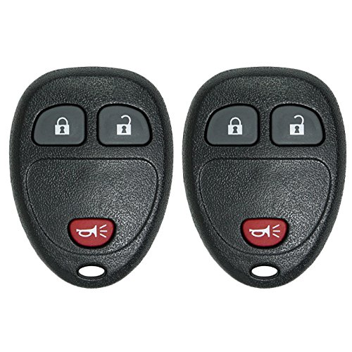 - Keyless2Go Keyless Entry Car Key Replacement for Vehicles That Use 3 Button OUC60270 OUC60221, Self-programming - 2 Pack