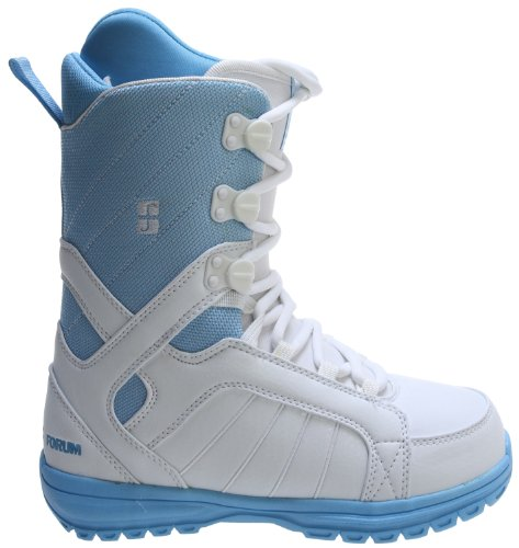 Forum - Womens Bebop Snowboard Boots 2013, White-Blue, 5 by Forum Novelties
