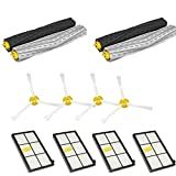 JP-DPP9 Replacement Accessories Kit for iRobot Roomba 800/900 Series 870 880 980 (4 x 800 Side Brushes,4 x 800 Series HEPA Filters,2 x Set of Aeroforce Extractors) (A)