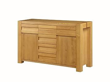 Credenza Moderna Rovere Naturale : The one fresco oak credenza in legno cassetti e ante