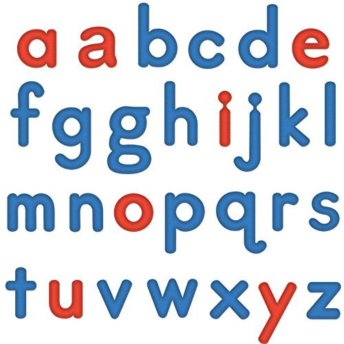 Really Good Stuff EZread Soft Touch Foam, Color-Coded, Magnetic Lowercase Letters 6 Pack