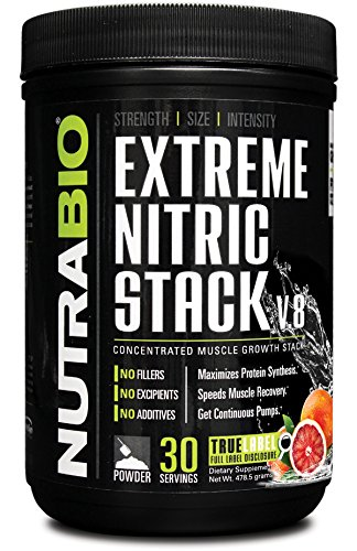 NutraBio Extreme Nitric Stack (Blood Orange) - 571 Grams
