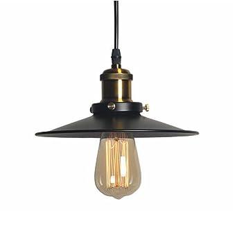 Industrial Luz Colgante Retro Luz de Techo Vintage lámpara Edison ...