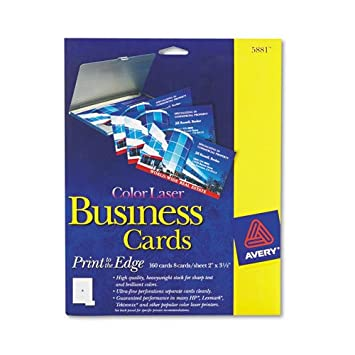 Amazon avery 5881 business cards f color laser printer 160 avery 5881 business cardsf color laser printer160pk2quot reheart Gallery
