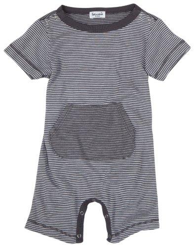 Splendid Littles Mini Stripe Romper, Carbon, 18 24 Months